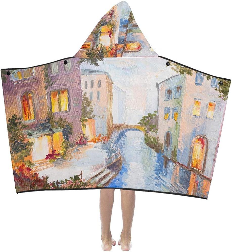 WBSNDB Kids Blankets for Very popular Girls Max 52% OFF Venetian Seasid Oil Painting View