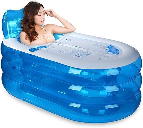 PROMISE-YZ Piscine gonflable d'enfants de baignoire de station thermale de baignoire d'adultes chauds épais gonflables pliables