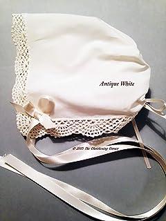 Shell Lace Magic Keepsake Hanky Bonnet – Antique White