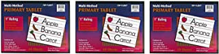 Top Flight Multi-Method 1st Grade Primary Tablet, 1 Inch Ruling, Bond Paper, 11 x 8.5 Inches, 40 Sheets 56415 (Pack of 3)