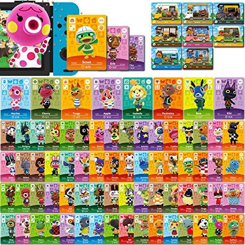 80 Stück ACNH NFC Mini-Kartenpaket für Animal Crossing New Horizons Serie 1-4 für Switch/Switch Lite/Wii U (Set F # 73-144 + RV # 9-16)