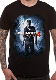 Uncharted 4 Cover Art a Thief's End Official Video Game Tee T-Shirt Mens Unisex