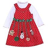 JOMOO Petite Fille élégante 2 PCS Xmas vêtements misbébé Enfants Fille...