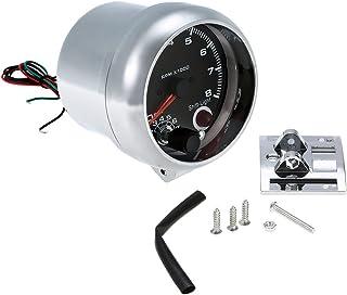 "mewmewcat 12V Car 3.75""Tacômetro Tacômetro com 7 LED Colors Shift Light 0-8000 RPM"