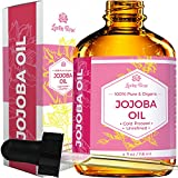 Jojoba Oil by Leven Rose, Pure Cold Pressed Natural Unrefined Moisturizer for Skin Hair and Nails, 4...