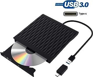 Grabadora DVD, Lector CD/DVD Usb 3.0 y Type-C, Ultra Slim