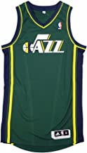 adidas Utah Jazz NBA Green Official Authentic On-Court Revolution 30 Alternate Jersey for Men