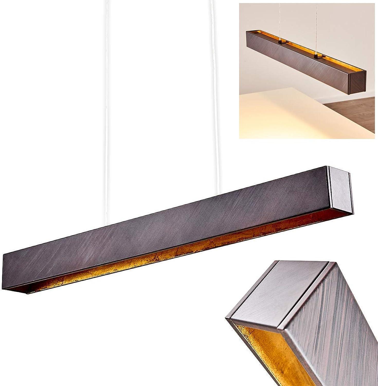 LED Pendelleuchte aus Metall – Hngeleuchte für Esstisch, Küche – Wohnzimmer Pendellampe – LED Designer Hngelampe – hhenverstellbare Designer Deckenlampe – 3000 Kelvin – 850 Lumen