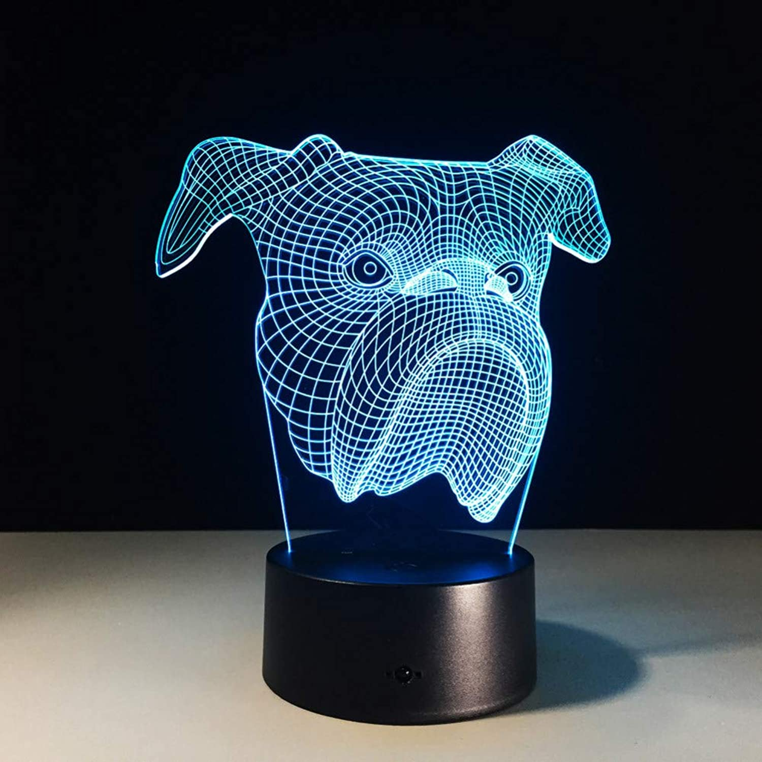 KAIYED 3D Night Light Dog 3D Table Lamp 7 color Changing Animal 3D Night Light for Baby Sleeping Nightlight Home Decor Xmas Gifts