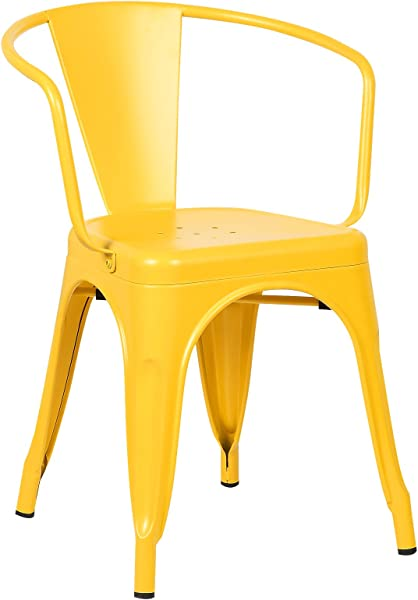 Poly And Bark Trattoria Arm Chair In Yellow