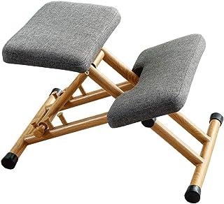 Silla de postura de rodillas de altura ajustable, silla de rodillas ergonómica, taburete ajustable for dolores de cuello y alivio de la tensión de la columna, asiento de rodillas ortopédicas mecedoras