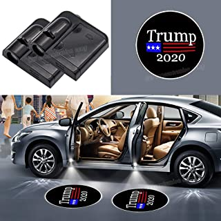 Fit Donald Trump 2020 Car Door Led Welcome Laser Projector Car Door Courtesy Light Suitable Fit for all brands of cars
