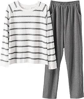 Big Boys Fashion Striped Long Sleeve Cotton Pajamas Set 2 Pieces(12y-20y)