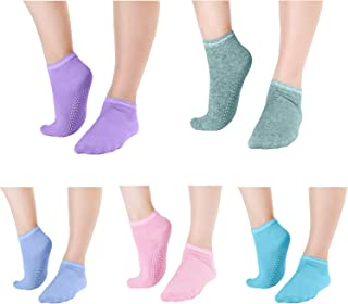 Grippy Anti Slip Barre Sticky Socks Elutong Yoga Pilates Gripper Slipper Sox