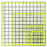 UOOU 4 Pack Quilting Ruler, Square Quilting Rulers Fabric Cutting Ruler Acrylic Quilters Rulers Clear Mark with Non Slip Rings for Quilting and Sewing(4.5'X4.5', 6'X6', 9.5'X9.5', 12.5'X12.5')