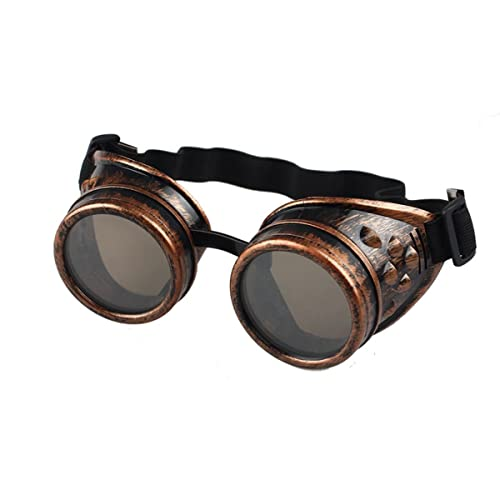 60b515161bf Fat.chot Unisex Vintage Steampunk Goggles Sunglasses Welding Punk Classic  Glasses Cosplay Eyeglasses for Climbing