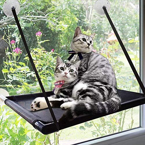 猫 ハンモック吸盤 猫 窓 ハンモック ペットハンモック キャットハンモック 猫のハンモックベッド ゲージ 猫ベッド 窓 猫ハンモック 猫 はんもっく ケージ 猫 用品 (L)