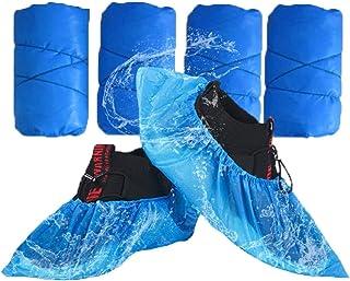 Ezlife Copriscarpe Monouso impermeabili, 100 Pezzi Copriscarpe in Plastica PE Extra Resistente Protezione Scarpe Monouso A...