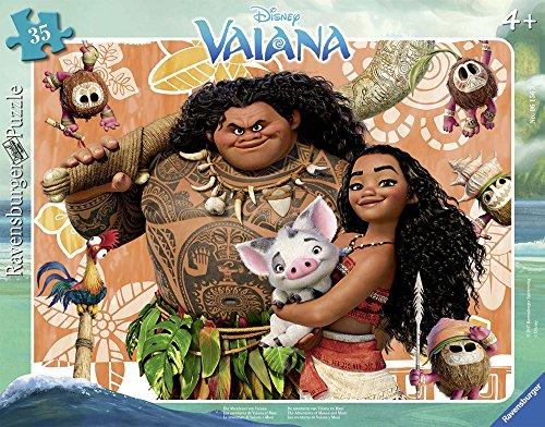 Ravensburger 06156 Vaiana Vaiana & Maui Puzzle mit Rahmen, 35 Teile