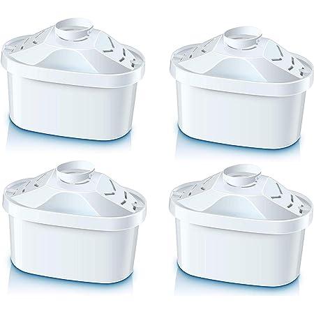 Cartouches de filtre à eau, cartouches universelles Maxtra compatibles avec les cartouches Brita Maxtra, Tassimo - Lot de 4