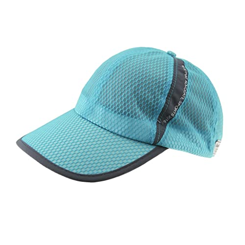 68467c6c3c1 Unisex Adults Summer Quick Dry Breathable Mesh Baseball Cap Long Brim  Adjustable Snapback Trucker Outdoor Sports