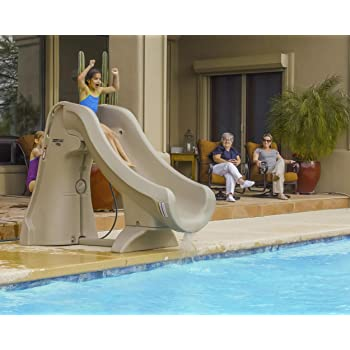S.R. Smith 660-209-5820 SlideAway Removable In-Ground Pool Slide, Gray