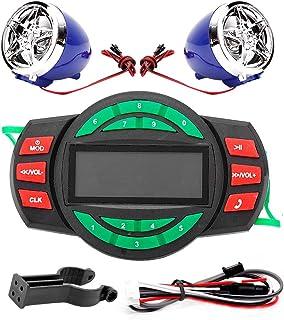 Motorrad MP3 Player BT, Fydun Wasserdichter LCD FM Radio Lautsprecher mit Unterstützung für das Aufladen des Telefons USB Unterstützung USB Wiedergabe TF Karten Wiedergabe MP3 Forma