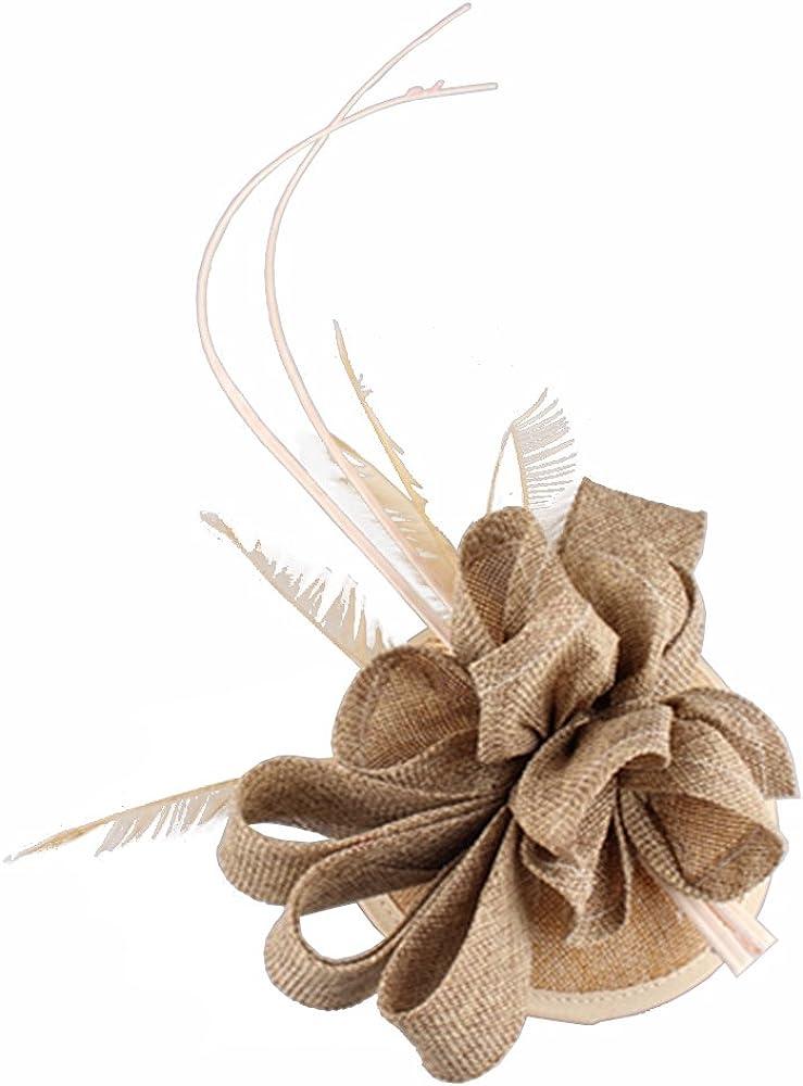 15 colors 2018 Feather Wedding Hat imitation Sinamay Fascinators Headpiece SYF116