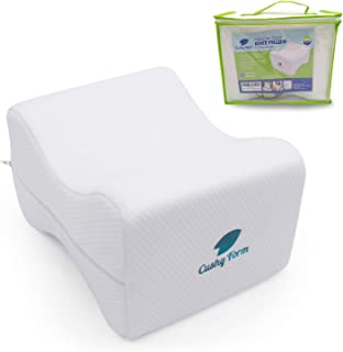 Knee Pillow for Side Sleepers - Sciatic Nerve Pain Relief   Best for Pregnancy, Hip, Knee, Back and Spine Alignment   Memo...