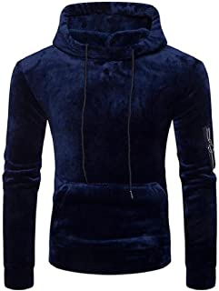 willwinMen WillingStart Mens Drawstring Hooded Pocket Solid Colored Hoodie Sweatshirt