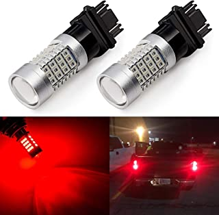 Pack of 2 SEALIGHT Amber Yellow 3157 3156 3057 3056 4157 LED Bulb 12V 27-SMD 2835 Chipsets with Projector Super Bright Replacement for Turn Signal Lights Side Marker Lights