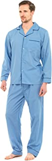 Mens Easy Care Polycotton Classic Long Pyjama Lounge Wear