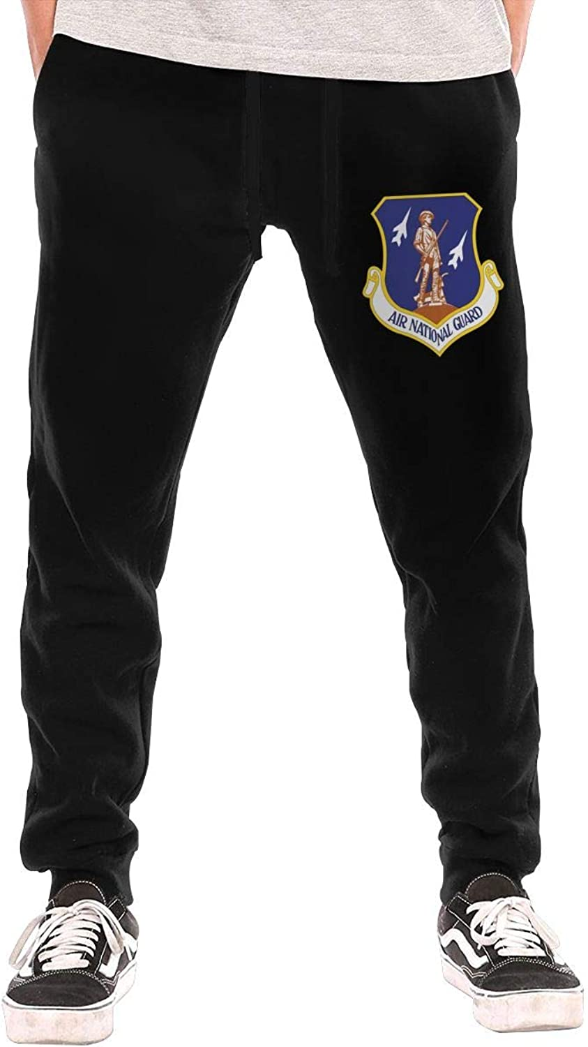 HUDIDEAR Air National Guard Mens Fit Joggers Jersey Sweatpants for Gym Training