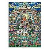 REAPP Tibetanische Thangka. Avalokitesvara bodhisattva thangka einzigartiger Buddhismus traditionelle realistische hd leinwand drucke malerei wandkunstbild Home Decor