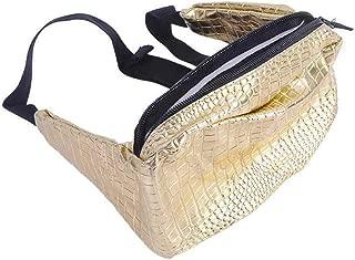 YWSCXMY-AU Women's Pockets Belt Leather Chest Bag Handbag Black Casual Bag (Color : Gold)