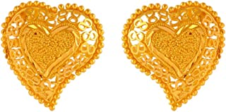 P.C. Chandra Jewellers 22k (916) Yellow Gold Stud Earrings for Women