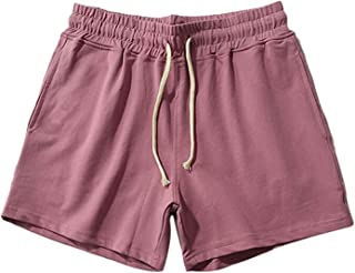 DELIMALI Men Summer Jogger Sweat Shorts, Casual Gym Running Shorts