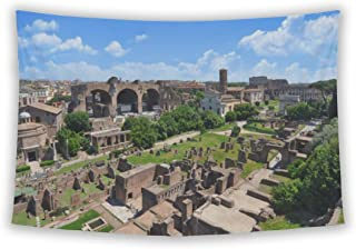 Wall Tapestry For Bedroom Hanging Art Decor College Dorm Bohemian, Colosseum Roman Forum As Seen From Palatine Hill, 60x51