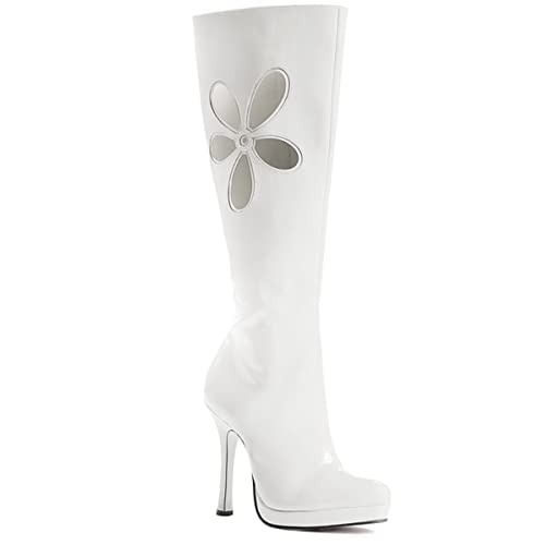 Amazon Com Lovechild Go Go Boots Adult Costume Shoes White
