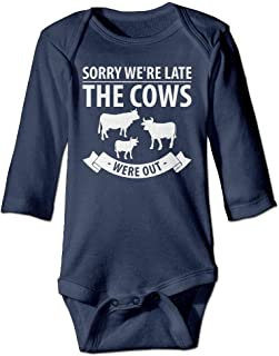 Sorry Were Late The Cows were Out Toddler Romper Jumpsuit Playsuit Outfits Navy