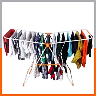 Magna Homewares Robusto Steel Foldable Cloth Drying Stand/Clothes Dryer Stands/Laundry Racks/Cloth Drying Hanger for Balco...