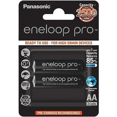 Pasonic Eneloop Akkus 5410853057178 Schwarz 2er Pack Elektronik