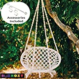 Swingzy Make In India, Cotton Rope Hanging Swing for Adults, Kids for Indoor