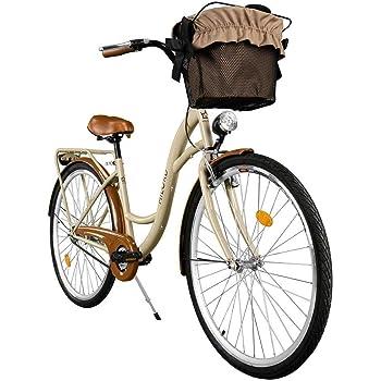 Milord. 2018 Cómoda Bicicleta de ciudad con una Canasta, Bicicleta, 3 Velocidades, Rueda de 28