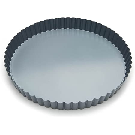 Fox Run Removable Bottom Non-Stick Tart and Quiche Pan, 9-Inch Diameter,Loose Bottom Quiche Pan - 9-inch