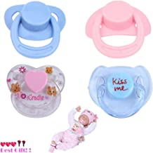 Miklan 4PC New Dummy Pacifier for Reborn Baby Dolls with Internal Magnetic Accessories