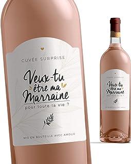 Etiquette Bouteille Marraine | Veux-tu être ma Marraine ? | Etiquette vin Demande Marraine | Annonce Naissance - Future Ma...