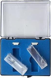 Quartz Cuvette, 2 pcs Standard 10mm 3.5ml Spectrometer Cell (Right Angle)