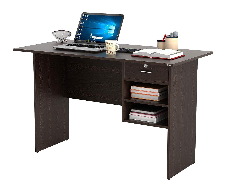 BLUEWUD Amalet Engineered Wood Office Desk; Study Desk(Wenge) : Amazon.in: Furniture
