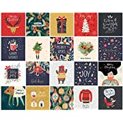 Christmas Cards Pack of 20 | Eco Friendly | Plastic Free | Hand Packed in The UK | Volume 2